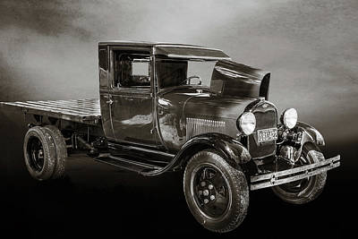 Photograph - 1930 Ford Stakebed Truck 5512.51 by M K  Miller