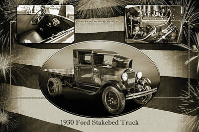 Photograph - 1930 Ford Stakebed Truck 5512.53 by M K  Miller