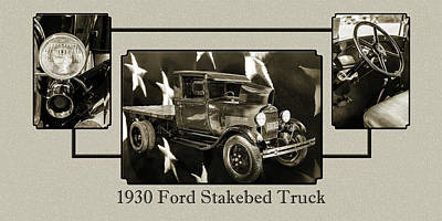 Photograph - 1930 Ford Stakebed Truck 5512.54 by M K  Miller