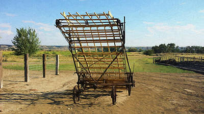 Photograph - 1930 John Deere Hay Loader Double Cylinder by Ericamaxine Price