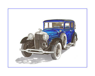 Painting - 1930 Lincoln L Berline by Jack Pumphrey