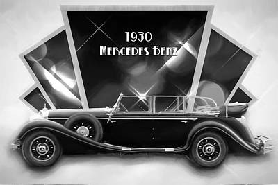 Digital Art - 1930 Mercedes-benz by John Haldane