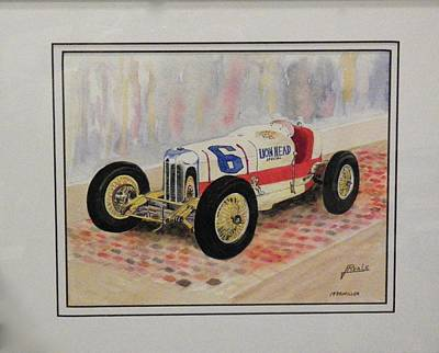 Indy Car Painting - 1930 Miller by Jim Reale