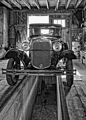1930 Model T Ford Monochrome Art Print by Steve Harrington