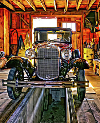 Car Repairs Photograph - 1930 Model T Ford - Paint by Steve Harrington