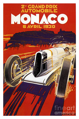 Race Cars Photograph - 1930 Monaco Grand Prix by Jon Neidert
