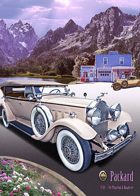 Photograph - 1930 Packard by Ed Dooley
