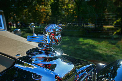Photograph - 1930 Stutz Weymann Monte Carlo Hood Ornament by Allen Beatty
