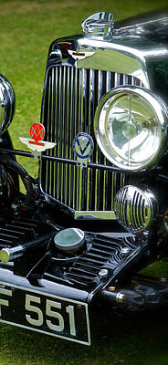 Photograph - 1930s Aston Martin Front Grille Detail by John Colley