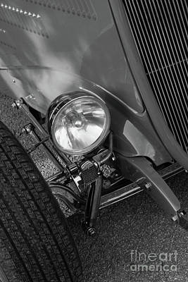 Photograph - 1930's Ford Roadster Grayscale by Jennifer White
