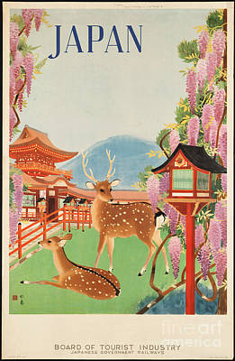 Painting - 1930s Japan Travel Poster Japanese Government Railways Board Of Tourist Industry by R Muirhead Art