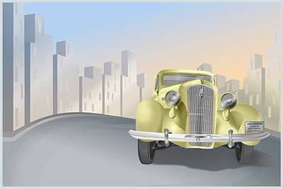 1930's Plymouth Sedan Art Print by Marty Garland