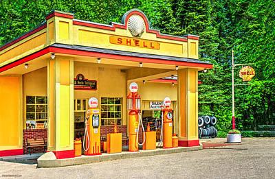 Photograph - 1930s Shell Gas Station by LeeAnn McLaneGoetz McLaneGoetzStudioLLCcom