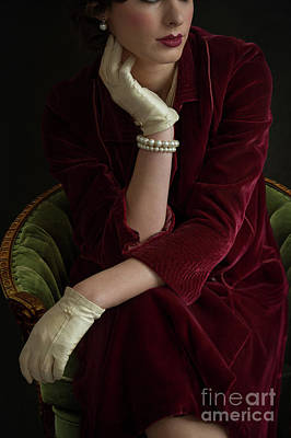 Photograph - 1930s Woman Sitting by Lee Avison