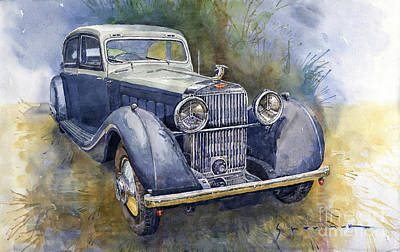 1931 Painting - 1938 Hispano Suiza J12 by Yuriy Shevchuk