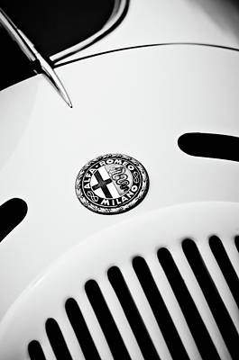 Photograph - 1931 Alfa Romeo 6c 1750 Gran Sport Aprile Spider Corsa Emblem -3693bw by Jill Reger