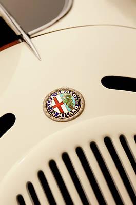 Photograph - 1931 Alfa Romeo 6c 1750 Gran Sport Aprile Spider Corsa Hood Emblem by Jill Reger