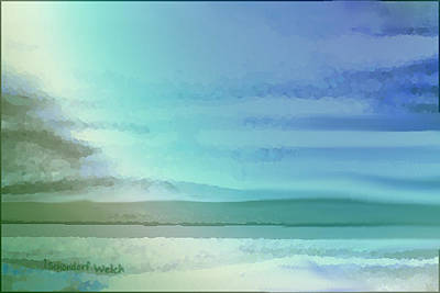 Digital Art - 1931 Blue Landscape by Irmgard Schoendorf Welch