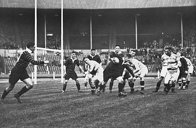 Rugby Photograph - 1931 Challenge Cup At Wembley by Underwood Archives
