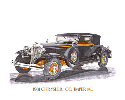 Painting - Chrysler C G Imperial by Jack Pumphrey