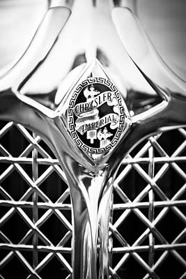Photograph - 1931 Chrysler Cg Imperial Lebaron Roadster Grille Emblem -2664bw46 by Jill Reger