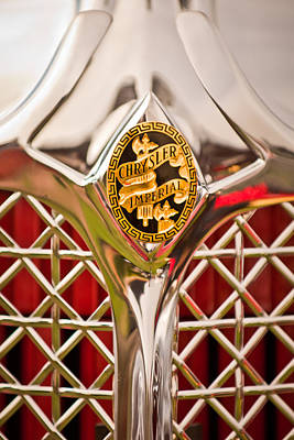 Photograph - 1931 Chrysler Cg Imperial Lebaron Roadster Grille Emblem -2664c46 by Jill Reger