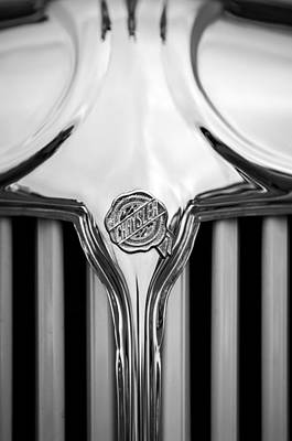 Photograph - 1931 Chrysler Coupe Grille Emblem -2072bw by Jill Reger