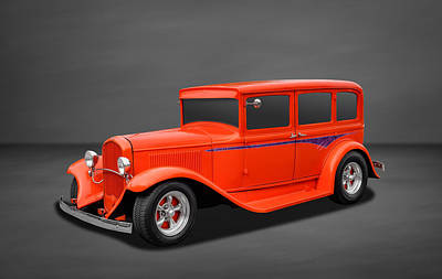 Photograph - 1931 Chrysler Plymouth 4 Door Sedan by Frank J Benz