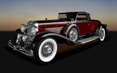 Photograph - 1931 Duesenberg Model J Convertible Coupe  -  1931duesenbergmdljcpe171661 by Frank J Benz