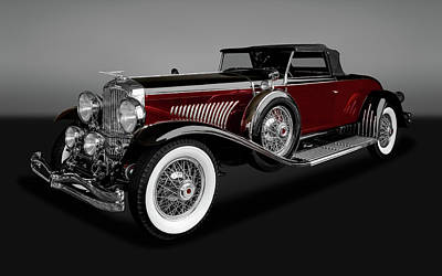 Photograph - 1931 Duesenberg Model J Convertible Coupe  -  1931modeljduesenberggry171661 by Frank J Benz