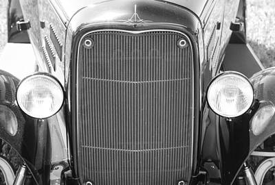 Photograph - 1931 Ford A400 Front Close-up In Black And White by James BO  Insogna
