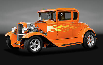 Photograph - 1931 Ford Model A 5 Window Coupe  -  1931modelafordgry172189 by Frank J Benz