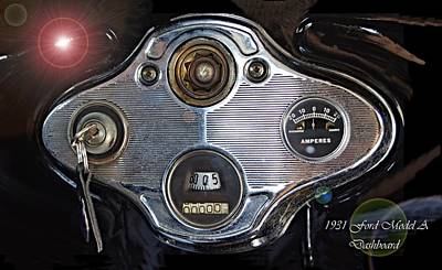 Photograph - 1931 Ford Model A Dashboard by David and Lynn Keller