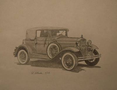 Ford Model A Drawing - 1931 Ford Model A by Ed Estrada