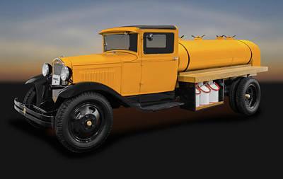 Wooden Platform Photograph - 1931 Ford Model A Tanker Truck  -  1931fordmodelatanker171933 by Frank J Benz