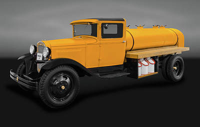 Photograph - 1931 Ford Model A Tanker Truck   -  1931modelafordtrkgry171933 by Frank J Benz