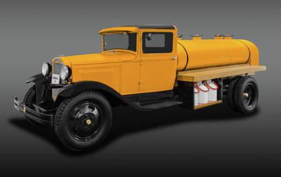 Photograph - 1931 Ford Model A Tanker Truck   -   1931modelafordtruckfa171933 by Frank J Benz