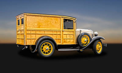 Photograph - 1931 Ford Natural Wood Special Delivery Woodie Model A  -  31fdtrkwd500 by Frank J Benz