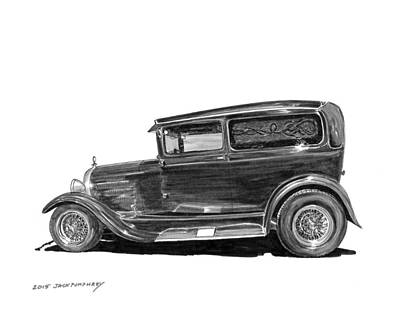 Painting - 1931 Ford Panel Delivery by Jack Pumphrey