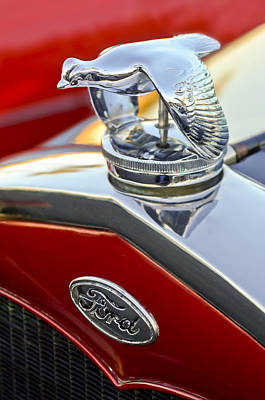 1931 Ford Quail Hood Ornament Art Print by Jill Reger