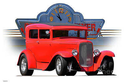 1931 Ford Victoria Photograph - 1931 Ford Victoria 'time Out Called' by Dave Koontz
