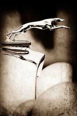 Lincoln Photograph - 1931 Lincoln K Hood Ornament -1837s by Jill Reger