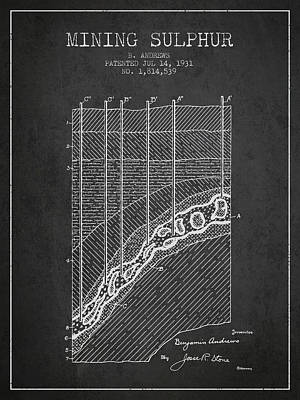 Machinery Digital Art - 1931 Mining Sulphur Patent En38_cg by Aged Pixel