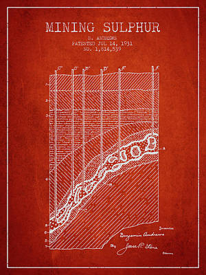 Machinery Digital Art - 1931 Mining Sulphur Patent En38_vr by Aged Pixel