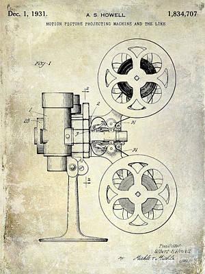 1931 Movie Projector Patent Art Print
