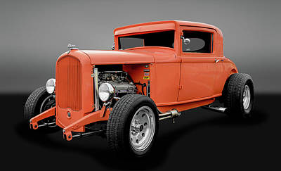 Photograph - 1931 Plymouth 3 Window Coupe  -  31ply3wingry8228 by Frank J Benz