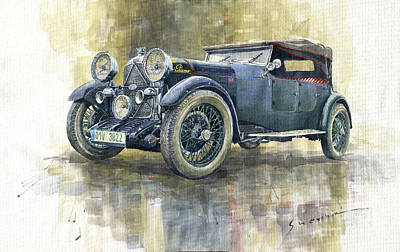 Painting - 1932 Lagonda Low Chassis 2 Litre Supercharged Front by Yuriy Shevchuk