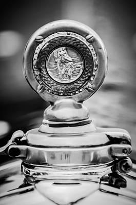 Photograph - 1932 Alfa Romeo Hood Ornament - Motometer -1357bw by Jill Reger