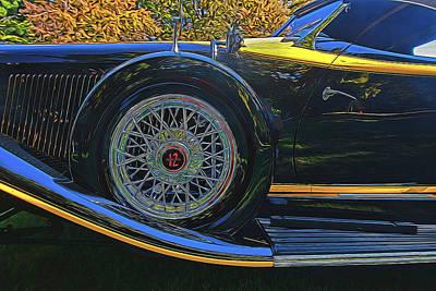 Roaring Red - 1932 Auburn 12 - 160 A Speedster Wire Wheel by Allen Beatty
