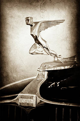 Photograph - 1932 Auburn 12-160 Speedster Hood Ornament - Emblem -1721s by Jill Reger